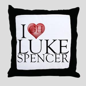 I Heart Luke Spencer Throw Pillow