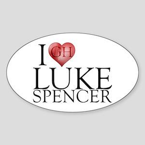 I Heart Luke Spencer Sticker (Oval)