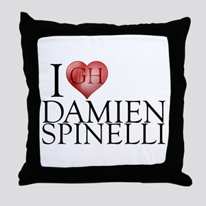 I Heart Damien Spinelli Throw Pillow