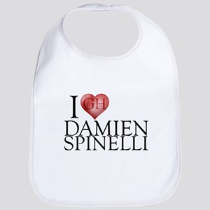 I Heart Damien Spinelli Cotton Baby Bib
