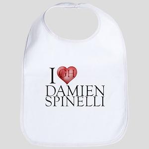 I Heart Damien Spinelli Cotton Baby Bib