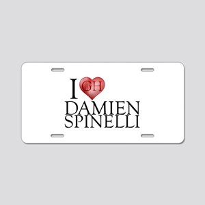 I Heart Damien Spinelli Aluminum License Plate