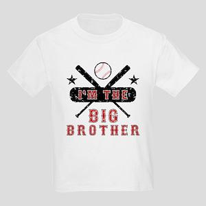 Baseball Big Brother Kids Light T-Shirt