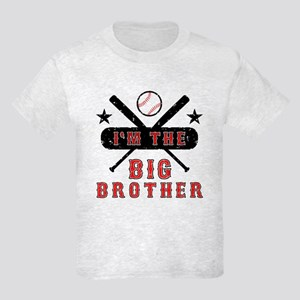 Baseball Big Brother Kids Light T-Shirt