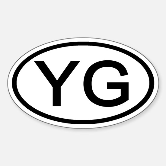 YG - Initial Oval Oval Decal