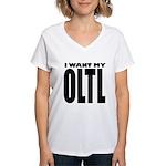 I Want My OLTL Women's V-Neck T-Shirt