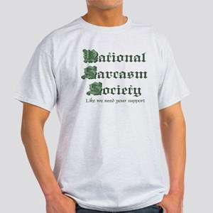 National Sarcasm Society Ash Grey T-Shirt