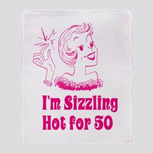 Sizzling Hot for 50 Throw Blanket