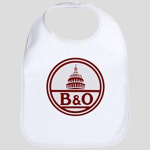 B&O railroad design Baby Bib