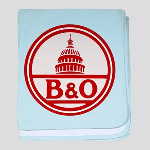 B&O railroad design baby blanket