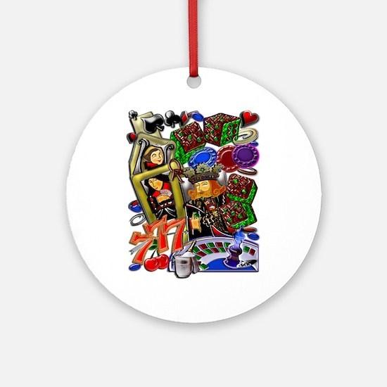Royal Hearts Flush Ornament (Round)