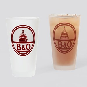 B&O railroad design Drinking Glass