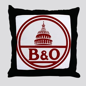 B&O railroad design Throw Pillow