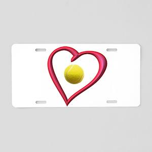 TENNIS LOVE Aluminum License Plate