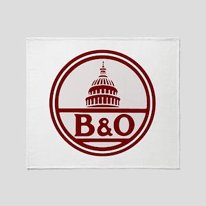 B&O railroad design Throw Blanket