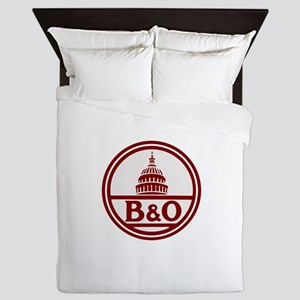 B&O railroad design Queen Duvet