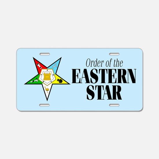 Eastern Star Aluminum License Plate