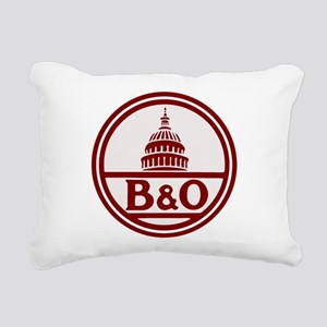 B&O railroad design Rectangular Canvas Pillow