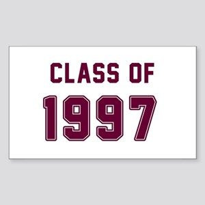 Class of 1997 Maroon Sticker