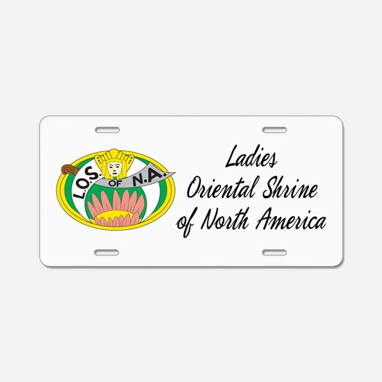 Ladies Oriental Shrine Aluminum License Plate