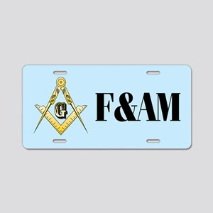 F&AM Masonic Aluminum License Plate