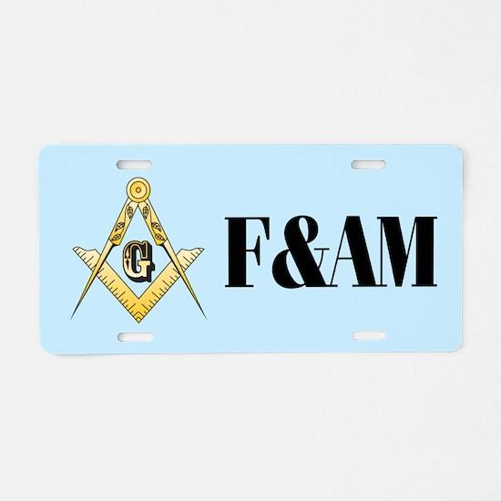 F&AM Masonic Aluminum License Plate