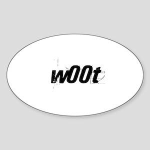 w00t Oval Sticker