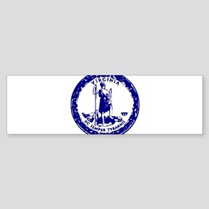 Blue Virginia Seal Sticker (Bumper)