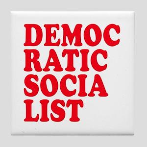 Democratic Socialist Tile Coaster