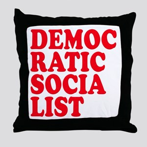 Democratic Socialist Throw Pillow