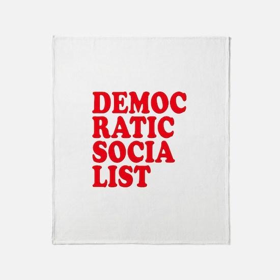 Democratic Socialist Throw Blanket