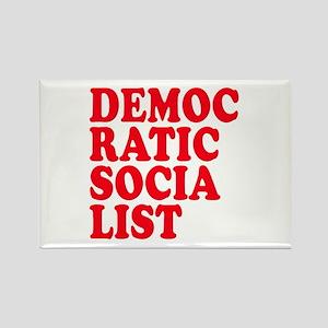 Democratic Socialist Rectangle Magnet
