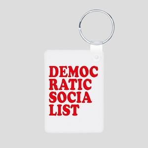 Democratic Socialist Aluminum Photo Keychain