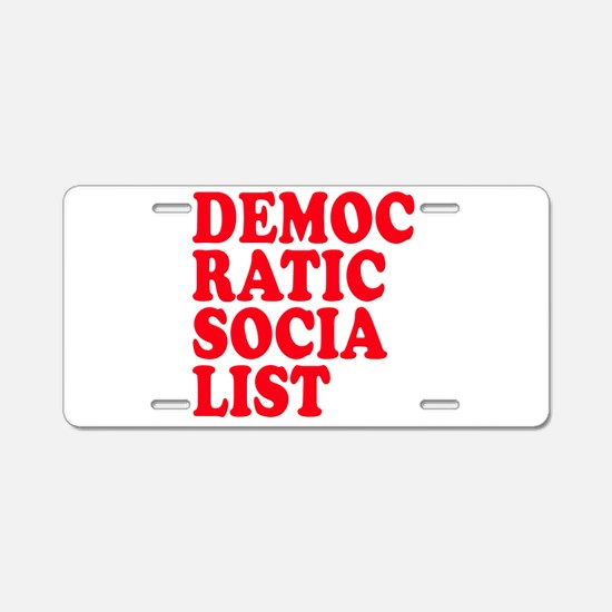 Democratic Socialist Aluminum License Plate