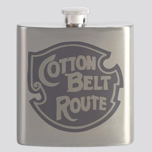 Cotton Belt Railway logo Flask
