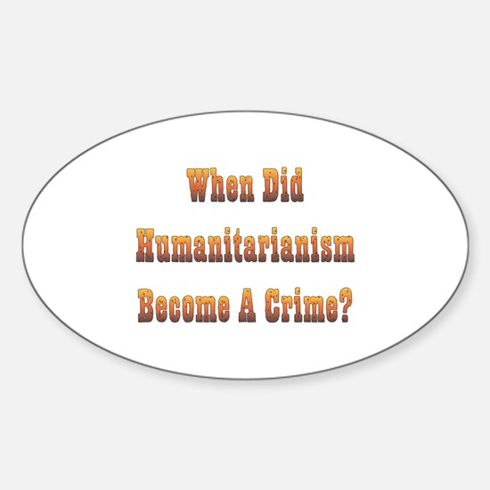 Humanitarianism Oval Decal