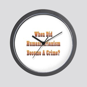 Humanitarianism Wall Clock