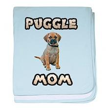 Puggle Mom baby blanket