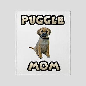 Puggle Mom Throw Blanket
