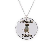 Puggle Mom Necklace Circle Charm