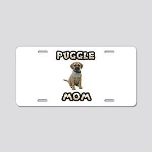 Puggle Mom Aluminum License Plate