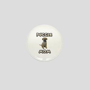 Puggle Mom Mini Button
