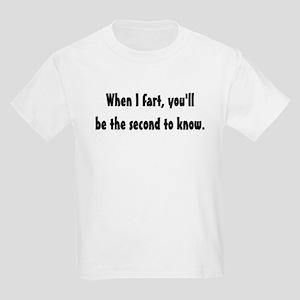 When I fart Kids T-Shirt