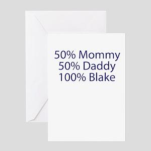 100% Blake Greeting Card