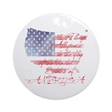 Pledge allegiance Round Ornaments