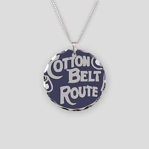 Cotton Belt Railway logo Necklace Circle Charm