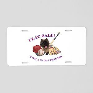 Cairn Terrier Baseball Aluminum License Plate