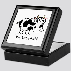YOU EAT WHAT? COW Keepsake Box