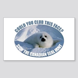 Canadian Seal Hunt Rectangle Sticker