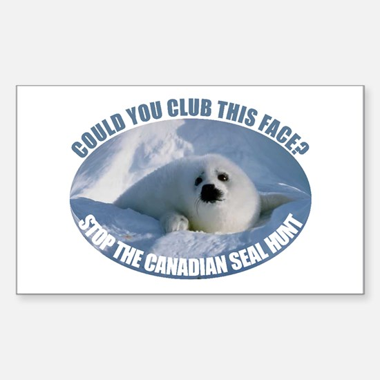 Canadian Seal Hunt Rectangle Decal